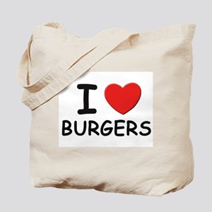 I love burgers Tote Bag