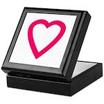 Red-Pink Open Heart Keepsake Box