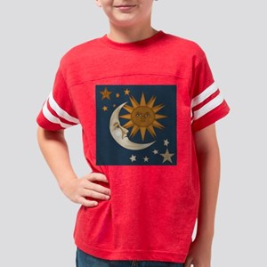 Starry Nite Throw Pillow Youth Football Shirt