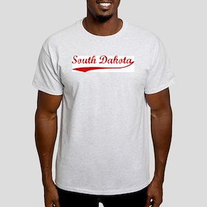 Red Vintage: South Dakota Ash Grey T-Shirt