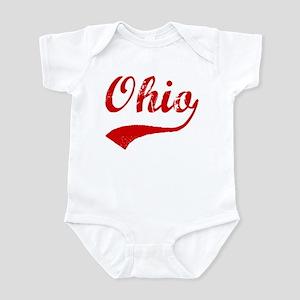 Red Vintage: Ohio Infant Bodysuit
