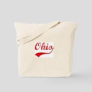 Red Vintage: Ohio Tote Bag