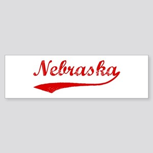 Red Vintage: Nebraska Bumper Sticker
