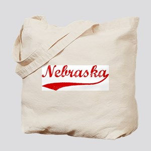 Red Vintage: Nebraska Tote Bag