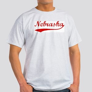 Red Vintage: Nebraska Ash Grey T-Shirt