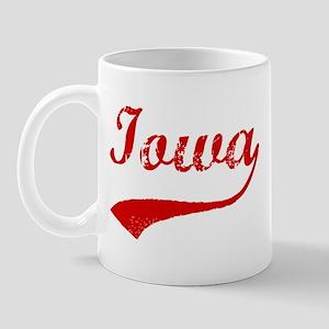 Red Vintage: Iowa Mug