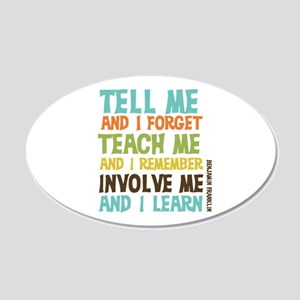 Involve Me 20x12 Oval Wall Decal
