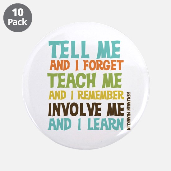 "Involve Me 3.5"" Button (10 pack)"