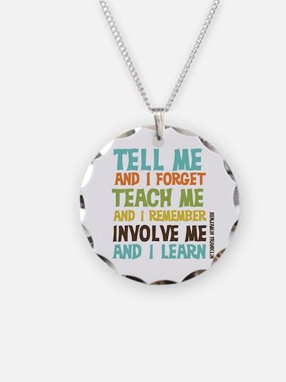 Involve Me Necklace Circle Charm