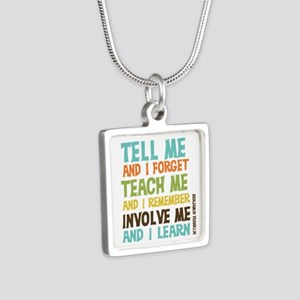 Involve Me Silver Square Necklace
