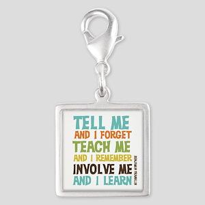 Involve Me Silver Square Charm