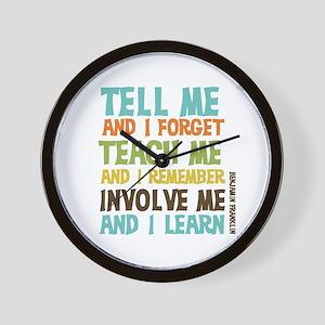 Involve Me Wall Clock