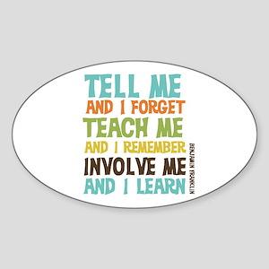 Involve Me Sticker (Oval)