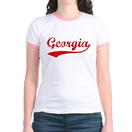 Red Vintage: Georgia Jr. Ringer T-Shirt