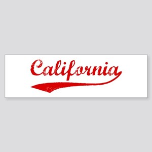 Red Vintage: California Bumper Sticker