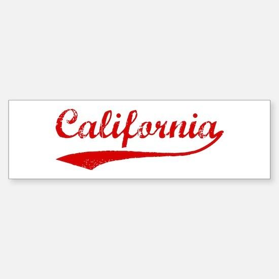 Red Vintage: California Bumper Bumper Bumper Sticker