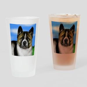 akita copy Drinking Glass