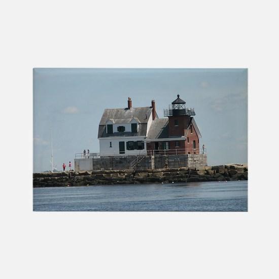 Rockland Light Lighthouse Rectangle Magnet