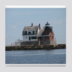 Rockland Light Lighthouse Tile Coaster