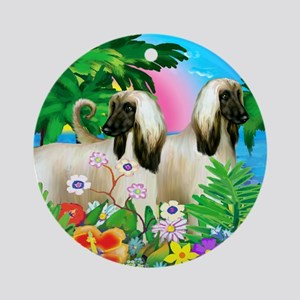 afghanhound3 copy Round Ornament