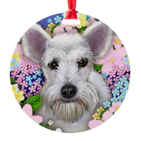 schnauzer3 copy Round Ornament