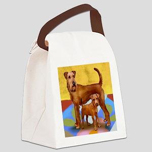 irishterrier4 copy Canvas Lunch Bag