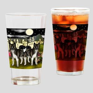 akita13 copy Drinking Glass