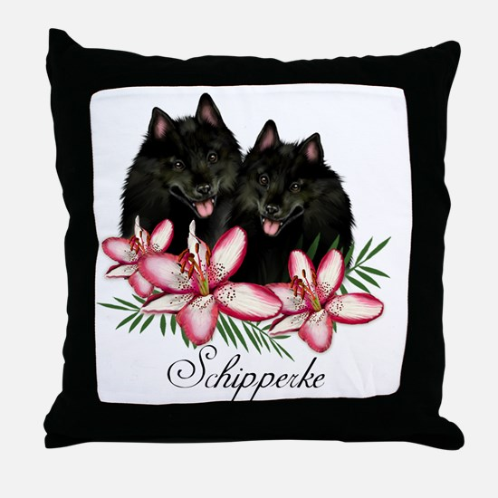 schipperke copy Throw Pillow