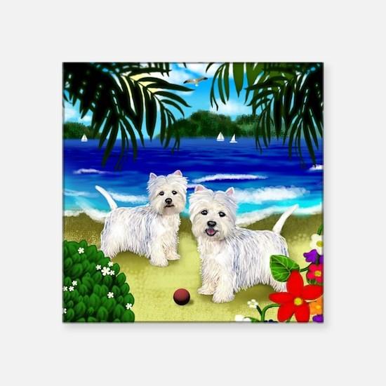 "westiebeach 2copy Square Sticker 3"" x 3"""