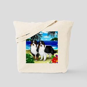 australianshepherdbeach copy Tote Bag