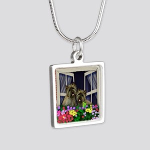 windowcairn copy Silver Square Necklace