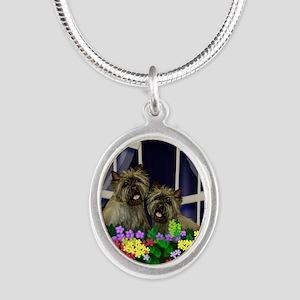 windowcairn copy Silver Oval Necklace
