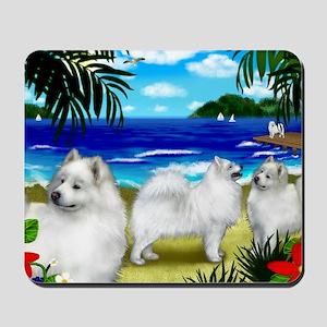 beachsamoyed Mousepad