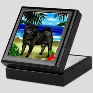 pugbeach copy Keepsake Box