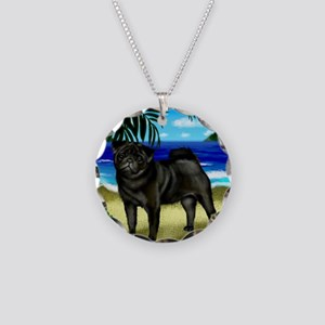 pugbeach copy Necklace Circle Charm