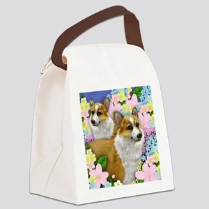 welshdogsgarden copy Canvas Lunch Bag