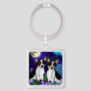 ratterriermoon copy Square Keychain