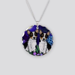 ratterriermoon copy Necklace Circle Charm