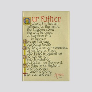 Lords Prayer2 Rectangle Magnet