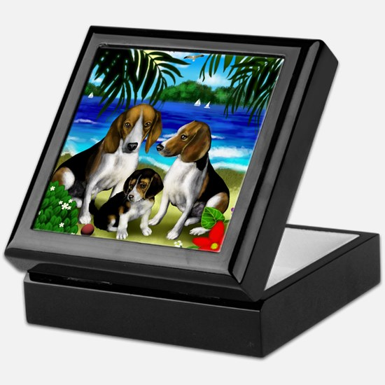 beaglesbeach copy Keepsake Box