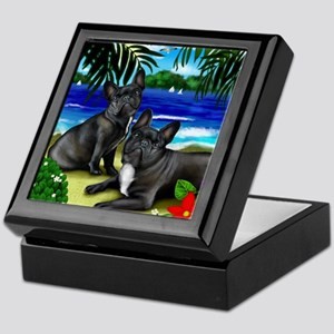 frenchbulldogbeach copy Keepsake Box