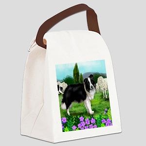 border collie3 copy Canvas Lunch Bag