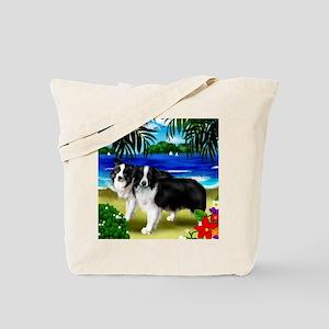 boarder colliebeachisland copy Tote Bag