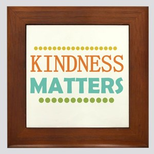 Kindness Matters Framed Tile