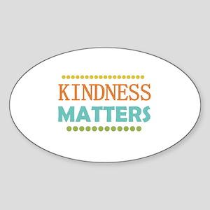 Kindness Matters Sticker (Oval)