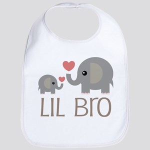 Lil Bro Elephant Matching Siblings Bib