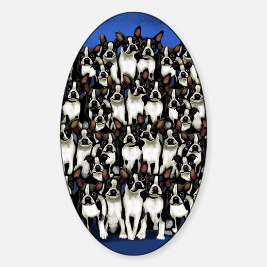bostons copy Sticker (Oval)