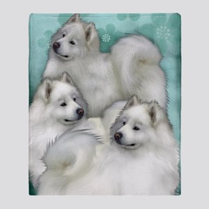 samoyed3PR Throw Blanket