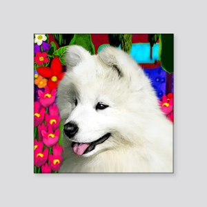 "samoyed6 copy Square Sticker 3"" x 3"""