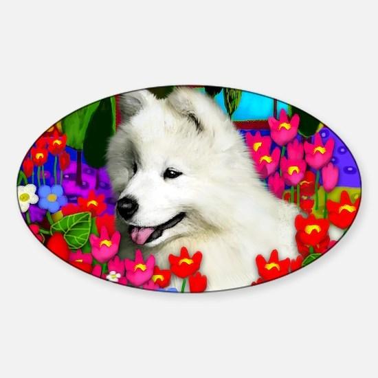 samoyedpupp Sticker (Oval)